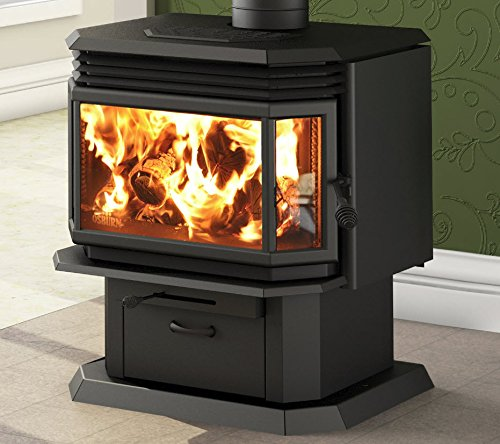- Osburn 2200 Wood Burning Stove Complete High Efficiency Pedestal Stove