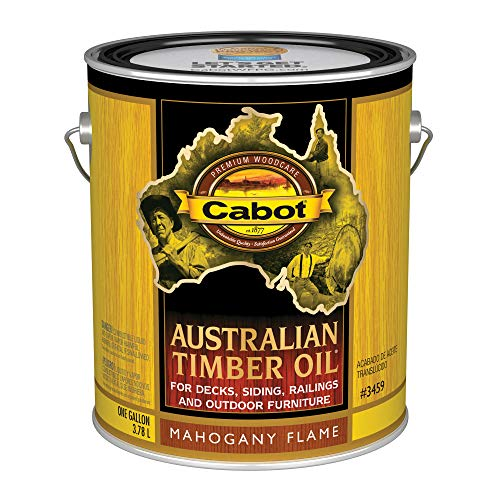 (Cabot Stains 3459 Australian Timber Oil Penetrating Formula, 1 Gallon, Mahogany Flame)