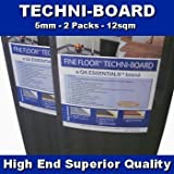 Techni-Boards Fine Floor 5mm Laminate Flooring Engineered Insulation Thermo Sound Wood Floor Underlay - 12m2 by Newlife Contracts (Flooring)