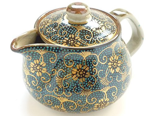Kutani Hyakkaen kutani teapot Hand-made Aotibu blue dot pattern