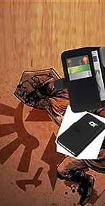 // PHONE CASE GIFT // Moda Estuche Funda de Cuero Billetera Tarjeta de crédito dinero bolsa Cubierta de proteccion Caso Samsung Galaxy S6 EDGE / Legend Of Zeld /