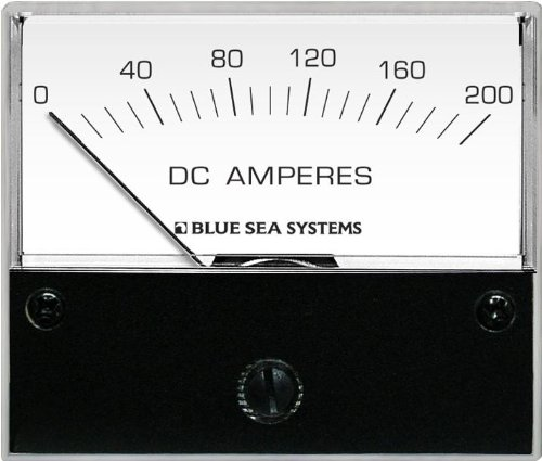 Blue Sea Systems DC Analog 0 to 200A Ammeter with - Blue Analog Dc Sea