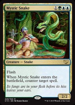 Magic: the Gathering - Mystic Snake (228/342) - Commander (Mystic Snake)