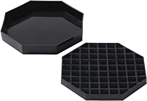 Bev Tek Octagon Black Plastic Drip Tray - with Removable Grate - 5