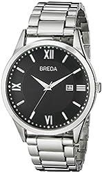 Breda Men's 9408B Analog Display Quartz Silver Watch