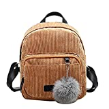 Donalworld Girl Velvet Backpack Cute Casual Zipper Solid Bags S Col3