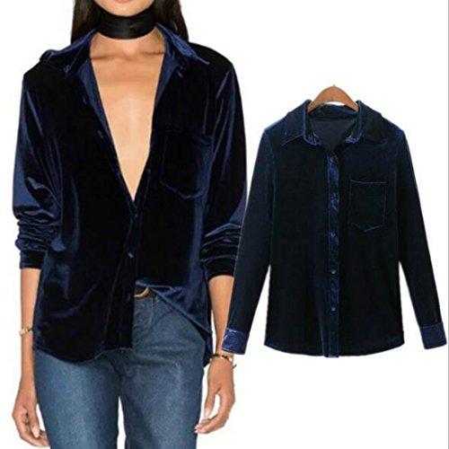 Velvet Button Down Shirt - 6