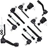 SCITOO 12pcs Suspension Kit 2 Sway Bar 2 Upper 2 Lower Ball Joints 2 Inner 2 Outer 1 Pitman Arm 1 Idler Arm fit Ford Crown Victoria LincolnTown Car MercuryGrand Marquis 1998-2002 K8848 K8678