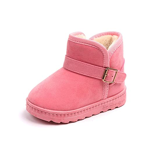 c0dea4267c80 Winter Warm Padded Snow Boots Shoes for 3-12 Years Teen Kids Toddler Baby  Girls