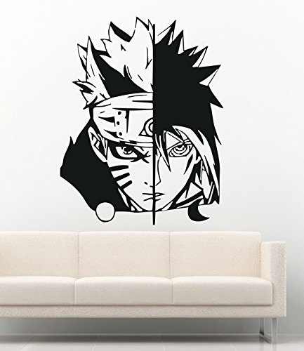 Anime Wall Decal For Boys Girls Naruto Cartoon Ninja Warrior Manga Hentai Vinyl Stickers Mural MK2012