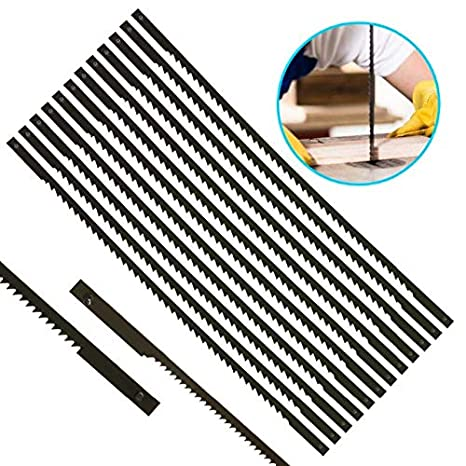 12Pcs Pinned Black Scroll Saw Blades Woodworking Power Tools Accessories 127mm
