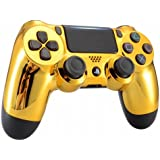 Chrome Gold Playstation 4 PS4 Dual Shock 4 Wireless Custom Controller