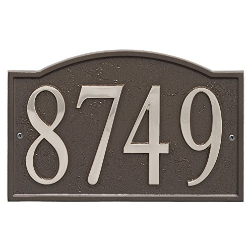 (ART & ARTIFACT by Whitehall Personalized Cast Metal Address Plaque - 11