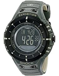 Timex Mens T49612 Expedition Shock Digital Compass Olive/Black Resin Strap Watch