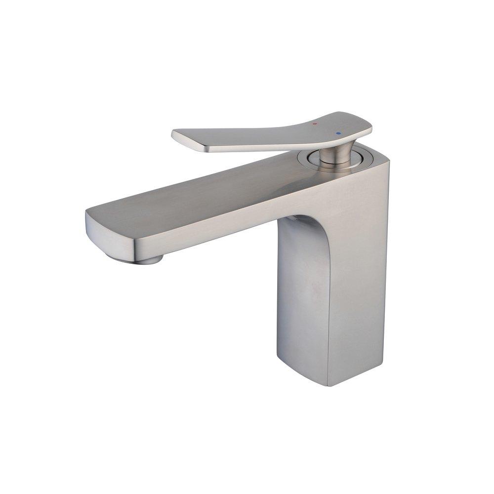 Brushed Nickel Bathroom Sink Faucet Single Handle Mixer Tap for Bathroom,Beeelee