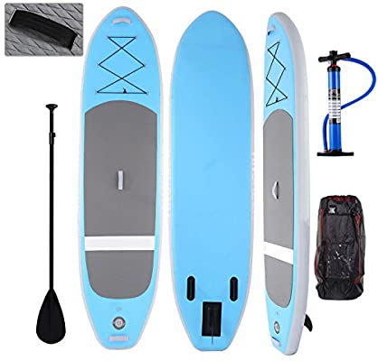 Profun Tabla Hinchable Paddle Surf Tabla de Surf Sup Set Stand Up Paddle Surf Board de 3M con Sup Board+Paleta Ajustable+Bomba de Aire+Mochila