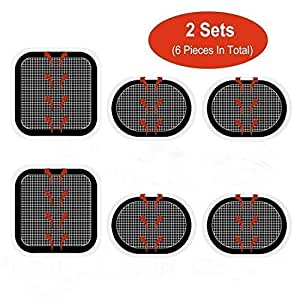 Gel Pads Replacement Unit Set Pack for Slendertone All Abdominal Belts 2 Set (6 Gel Pads)