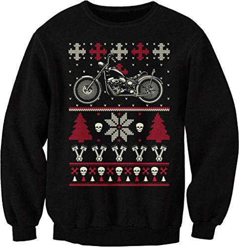 GearHead Biker Christmas - MOTORCYCLE - Sweater Style SWEAT SHIRT ...