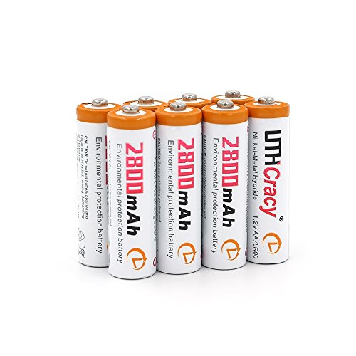 AA High-Capacity 2800mAh Rechargeable Batteries (8-Pack) UTHCracy