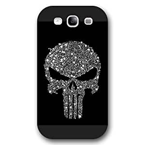 UniqueBox Customized Marvel Series Case for Samsung Galaxy S3, Marvel Comic Hero The Punisher Logo Samsung Galaxy S3 Case, Only Fit for Samsung Galaxy S3 (Black Frosted Case)