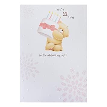 Hallmark Forever Friends 21st Birthday Card For Her Lots Of Happiness