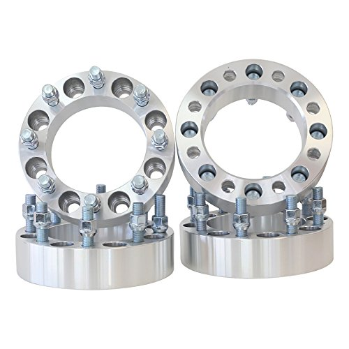8x170 to 8x170 Thread M14x1.5 - Center Bore 130 MM 1.5'' thick spacer with lug nuts by Smart Parts (Image #1)