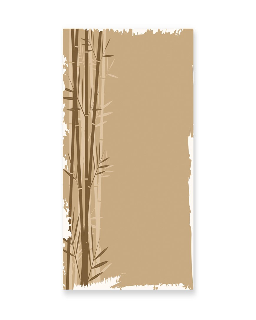 Lunarable Camel Color Wall Art, Exotic Bamboo Plant with Grungy Look Zen Spa Feng Shui Theme Asian Nature, Gloss Aluminium Modern Metal Artwork for Wall Decor, 11.6 W X 23.5 L Inches, Camel Brown