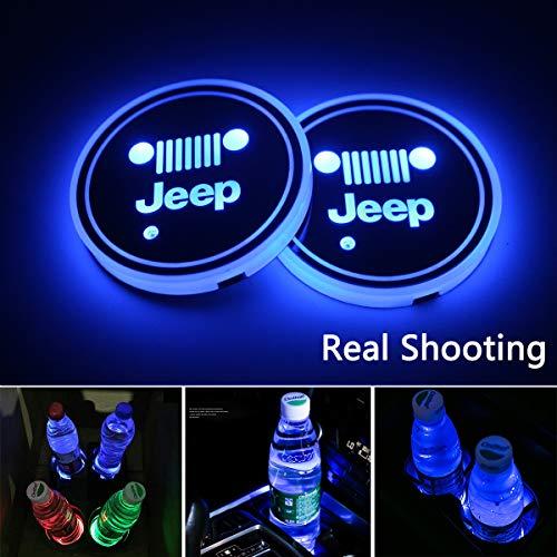 2pcs LED Car Cup Holder Lights
