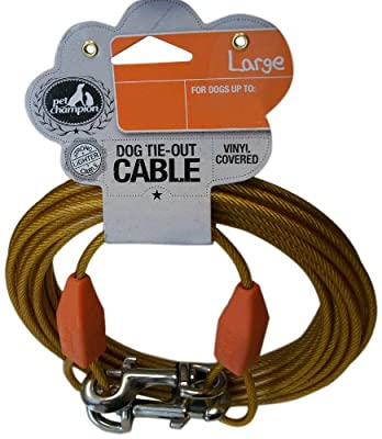 Pet Champion Toy Reflective Tie Out Cable for Dogs