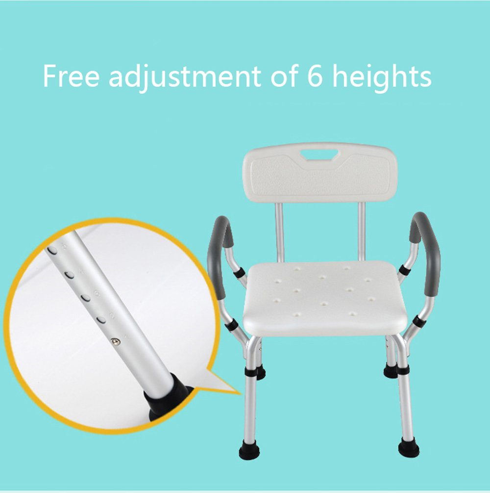 Amazon.com: Aluminum shower stool/handicapped assisted non-slip ...