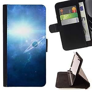 For Apple iPhone 5C Case , Naturaleza de la fantasía Galaxia- la tarjeta de Crédito Slots PU Funda de cuero Monedero caso cubierta de piel