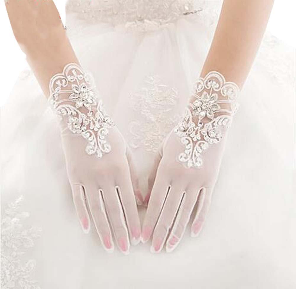 Beautiful Lace Women Wedding Gloves Bridal Gloves