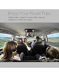 13.3 pulgadas Pantalla IPS digital 1080P Video Car Montaje en el techo Reproductor de DVD con tapa hacia abajo Monitor de auto para caravana SUV MPV Soporte USB SD HDMI, entrada salida AV, FM y juegos de transmisores de infrarrojos (Negro)