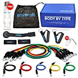 BBT Fitness Resistance Exercise Band Set For Legs and Butt w/ Handles, Door Anchor, Thick Resistance Workout Bands, Gym Resistance Bands, Long Latex Resistance Bands, Weight Exercise Resistance Bands