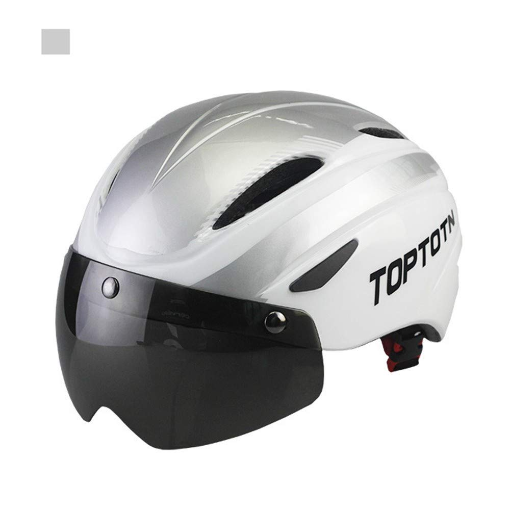 Fahrradhelm integrierten Helm,Magnetische Schutzbrille integrierten Fahrradhelm hochfesten Fahrradhelm 551c51