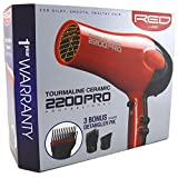 Red by Kiss Tourmaline Ceramic 2200PRO Professional Hair Dryer...