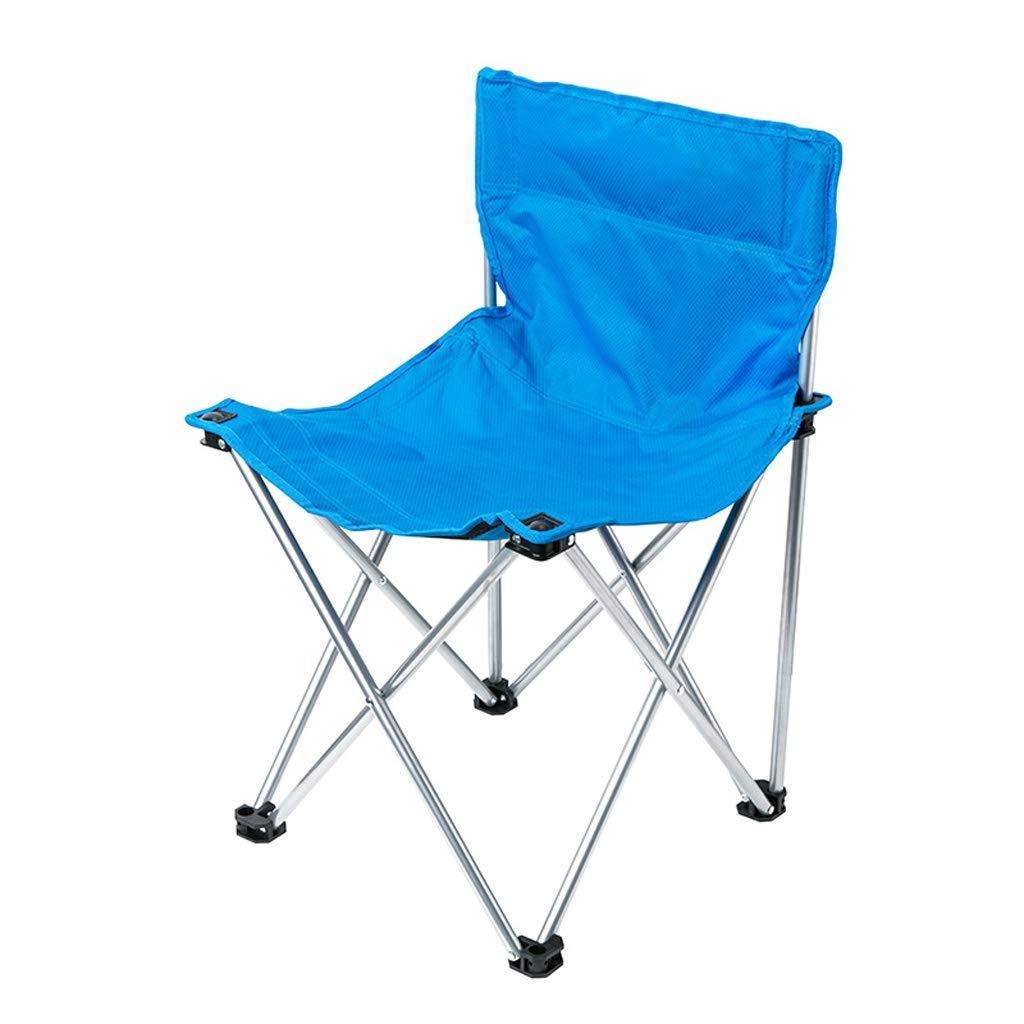 KAI LE Outdoor Park Camping Stuhl Klappstuhl Portable Stuhl Strand Stuhl Angeln Stuhl (Blau)