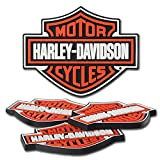 Harley-Davidson® H-D® B&S Rubber Coaster Set. 5 x 4-Inches. HDL-18515