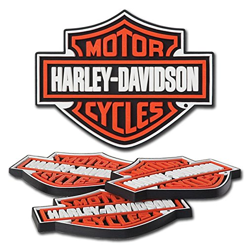 Used, Harley-Davidson® H-D® B&S Rubber Coaster Set. 5 x 4-Inches. for sale  Delivered anywhere in USA