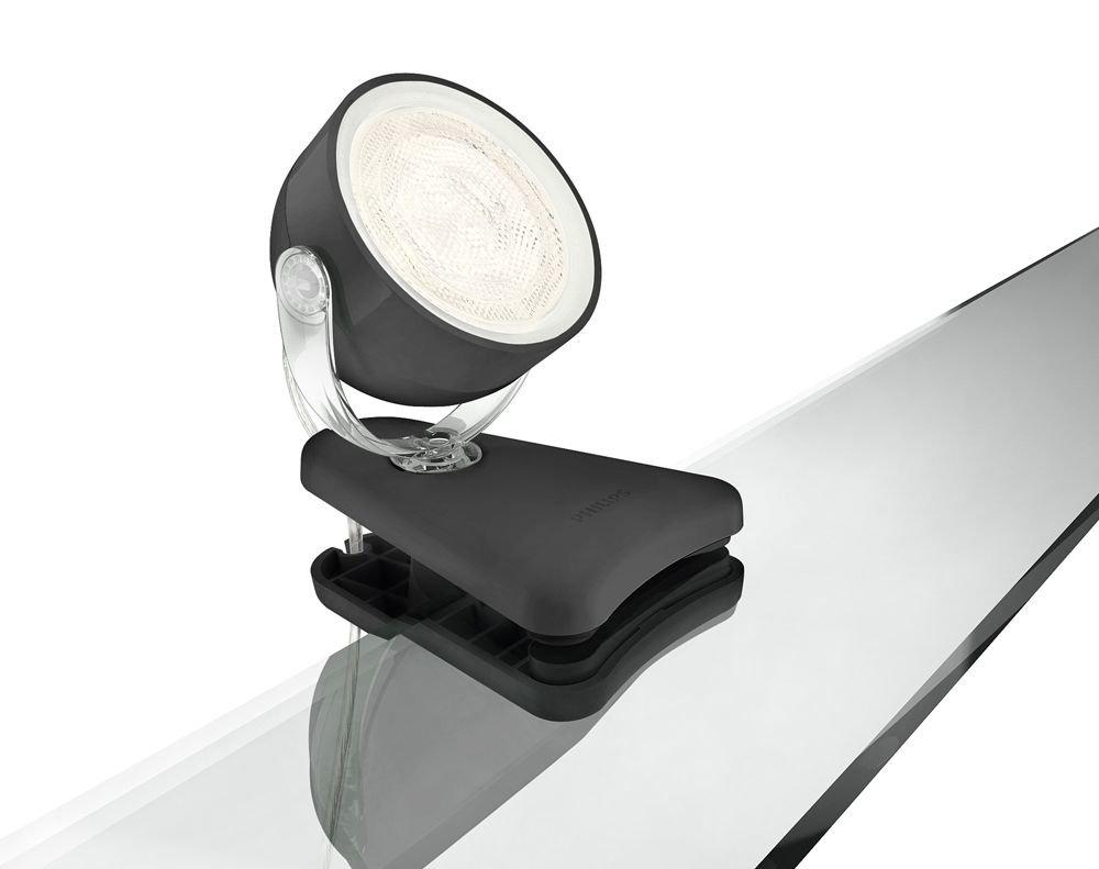 Philips 532303016 Dyna Faretto Singolo a LED, Nero faretti led; faretto led; faretti; faretto; faretti a led; faretto a led; faretti da incasso a led; lampade spot; lampadina spot; lampade spot led