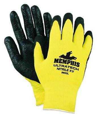 MCR SAFETY 9693M Nitrile Dip Kevlar Glove (Pack of 12 ...