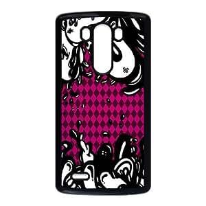 LG G3 Cell Phone Case Black_Pink Argyle Lava Iykqw
