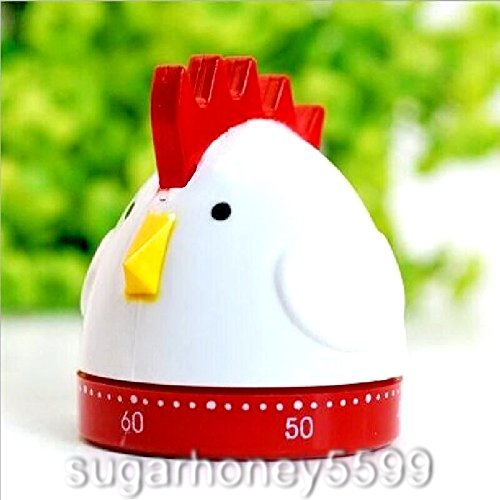 Cute Chicken Mechanical Kitchen Timer Count Down Counter Practical Alarm Game Cooking Tool