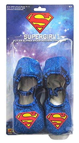 Supergirl Glitter Slipper Shoes ()