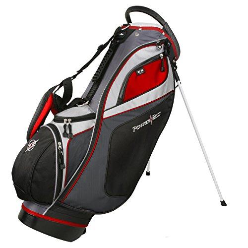 - Powerbilt TPS Dunes 14-Way Black/Charcoal Stand Golf Bag (Black/Charcoal)