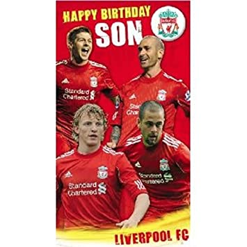Liverpool fc son birthday card general open card size 125mm x liverpool fc son birthday card general open card size 125mm x 230mm bookmarktalkfo Choice Image