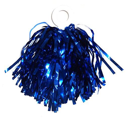 ACI PARTY & SPIRIT ACCESSORIES Mini Pom Royal with Plastic Ring, Metallic -