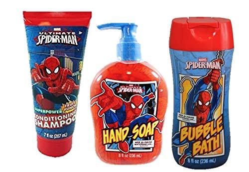 (Spiderman Hand Soap + Shampoo + Bubble Bath Set Bundle)