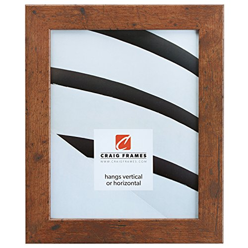 Craig Frames 26011 12 by 16-Inch Picture Frame, Smooth Wrap Finish, 1.26-Inch Wide, Distressed Light Walnut
