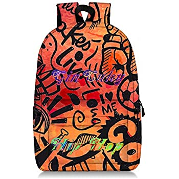 Basketball Hip Hop Freestyle Rucksack School Backpack Bookbag DIY Deisgn Colorful Daily bag, Freestyle backpack (HP-23-01)